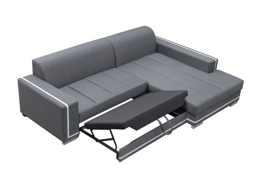 Rohová sedací souprava s úložným prostorem v tmavě hnědé barvě levá F1143