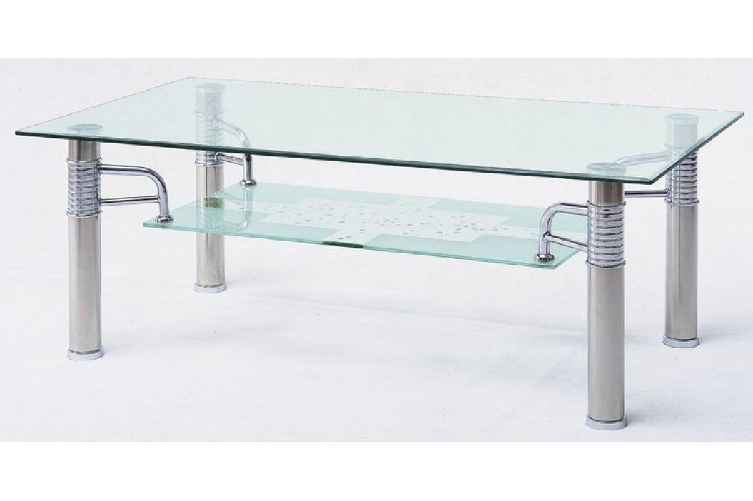 Konferenční stolek 55 cm v moderním provedení se skleněnou deskou KN436