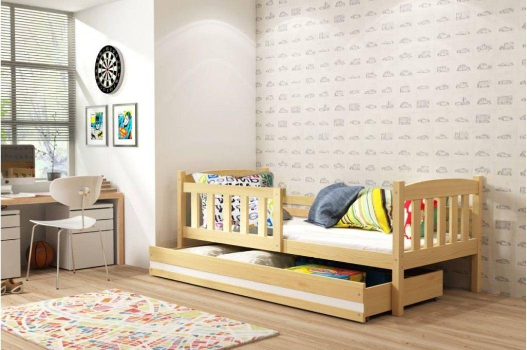 Dětská postel v dekoru borovice 90x200 F1176
