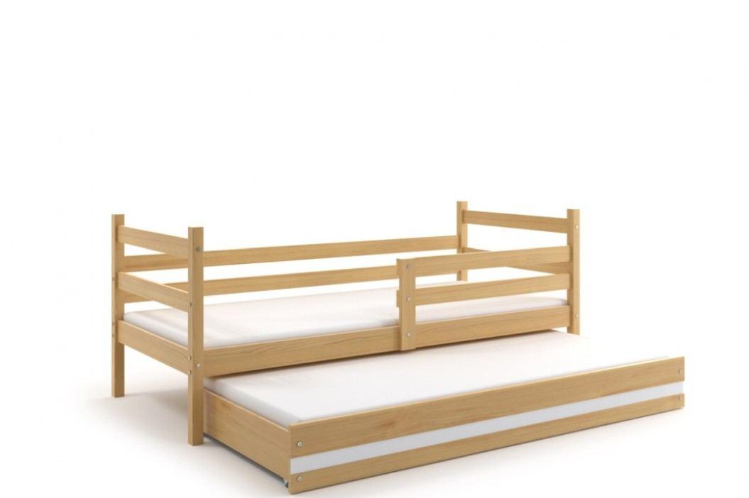 Dětská postel v dekoru borovice s přistýlkou F1274