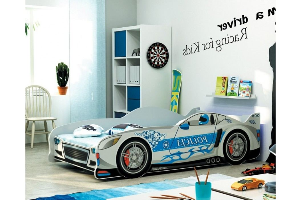 Postel ve stylu závodního auta v šedé barvě F1285
