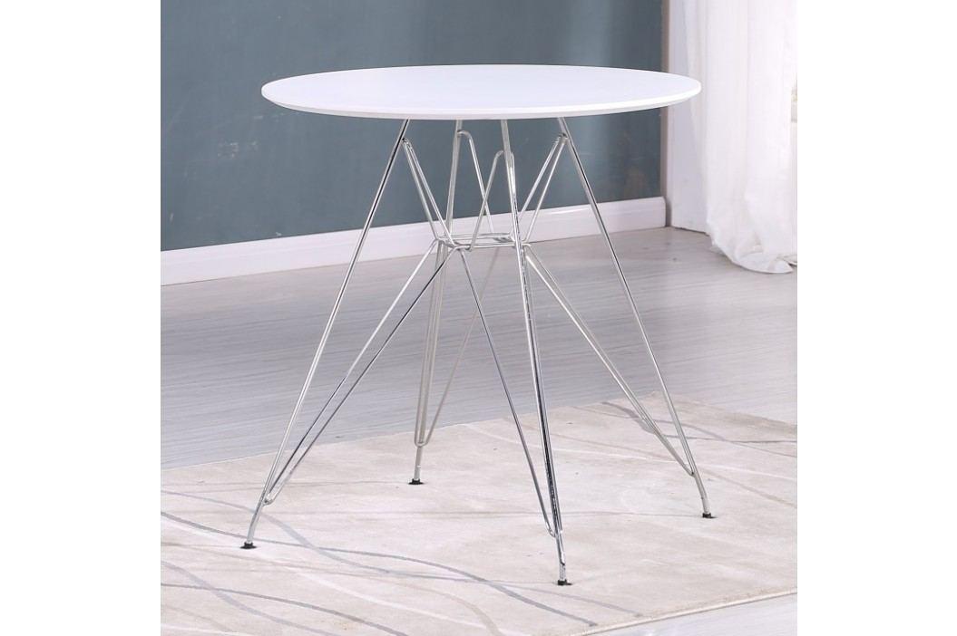 Jídelní kulatý stůl 80x72cm na chromové podstavě TK2094