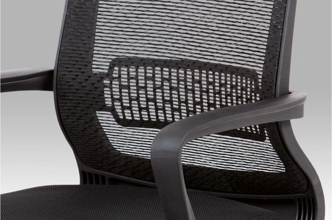 Kancelářská židle s houpacím mechanismem z černé látky MESH KA-C840 BK
