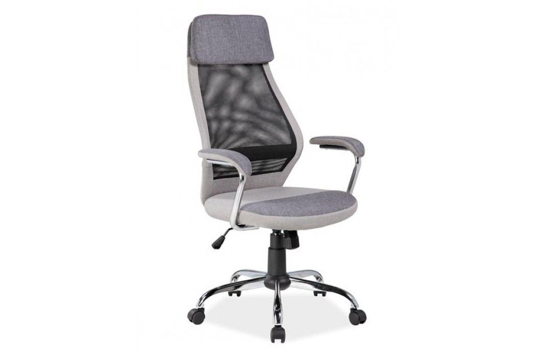 Kancelářské otočné křeslo v šedé barvě KN768