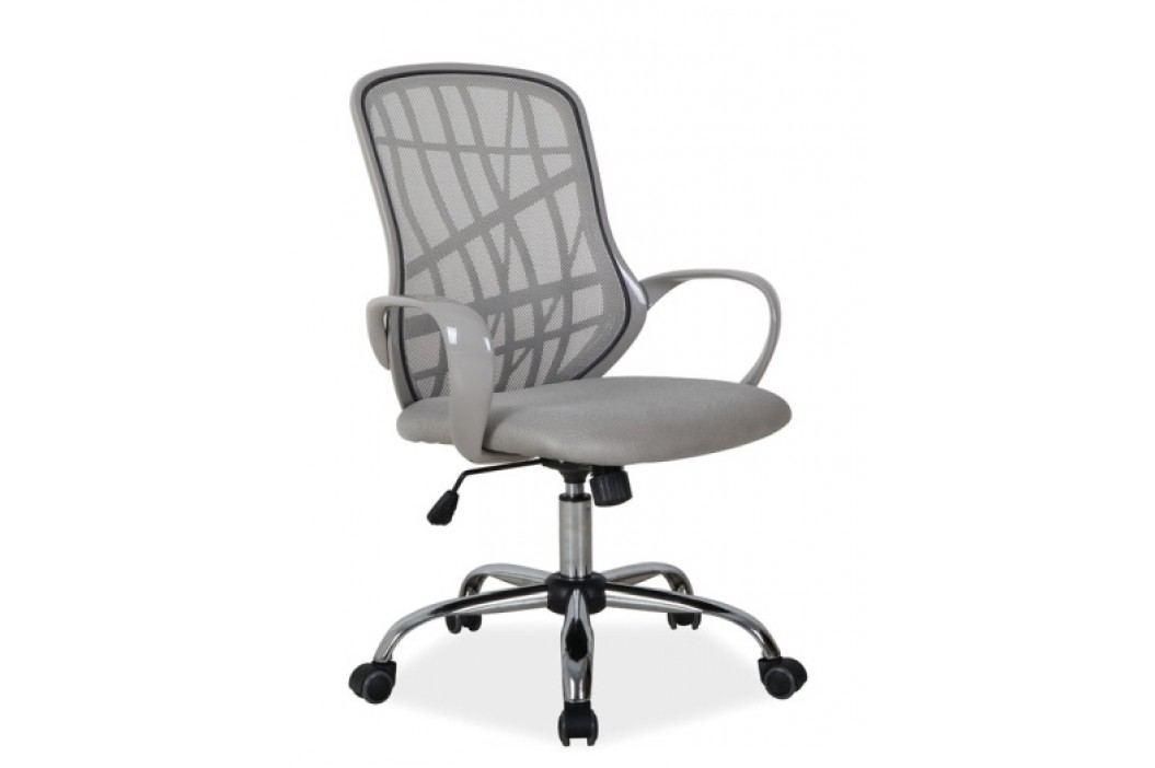 Kancelářské otočné křeslo v šedé barvě KN772