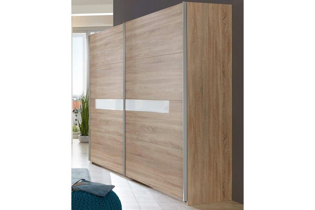 Šatní skříň 270 cm s posuvnými dveřmi v dekoru dub řezaný typ 862 KN809
