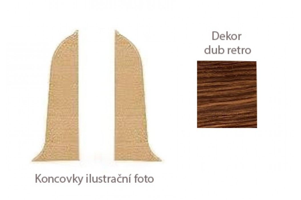 Koncovka L+P k PVC liště dekor dub retro LP55