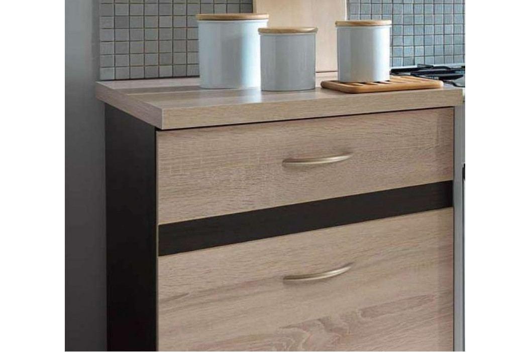 Kuchyňská linka 170 cm v kombinaci dub sonoma a wenge W001