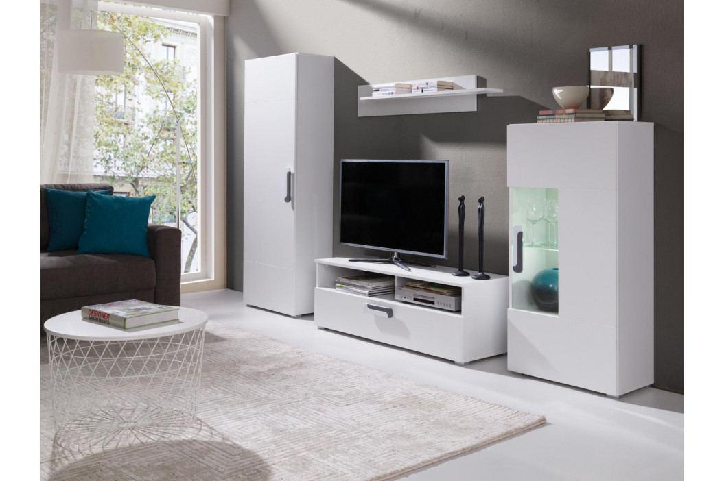 Obývací stěna v bílé barvě F2016 obrázek inspirace