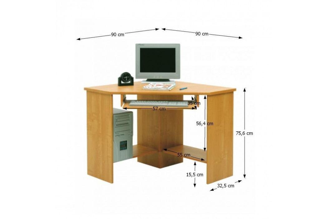PC stolek, rohový, buk, B3