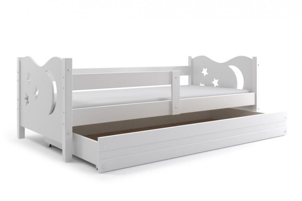 Dětská postel v bílé barvě 80x160 cm F1365