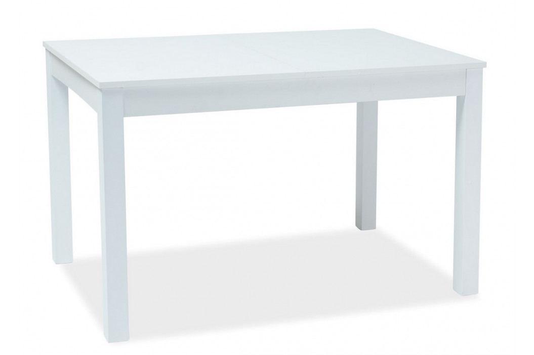 Jídelní rozkládací stůl 120x80 cm v bílé barvě KN974