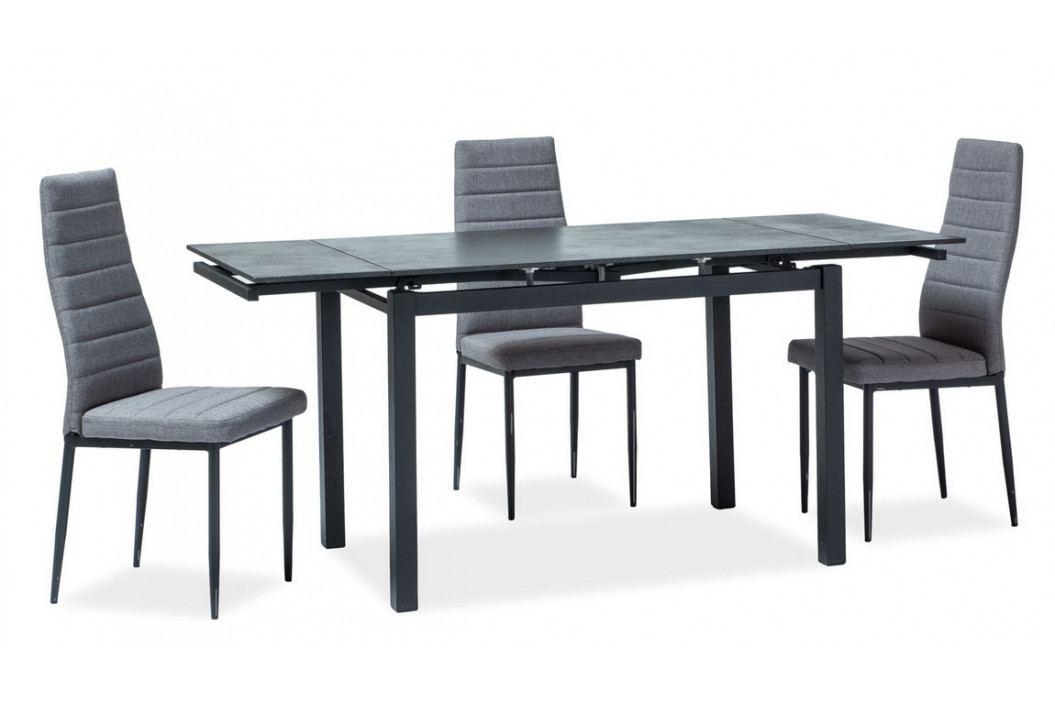 Jídelní rozkládací stůl 110x70 cm v černé barvě KN886