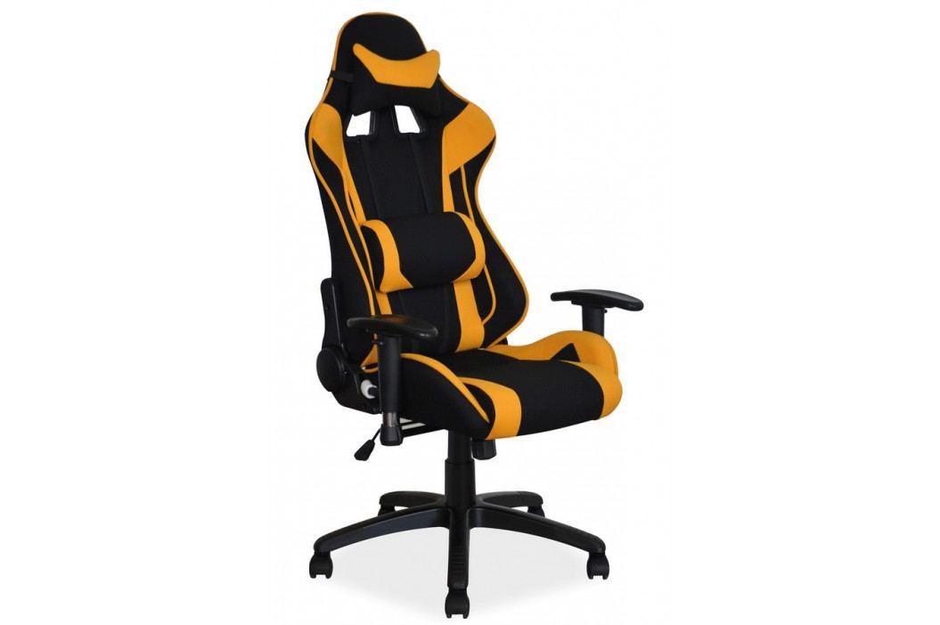 Kancelářské otočné křeslo v černé a žluté barvě KN1031