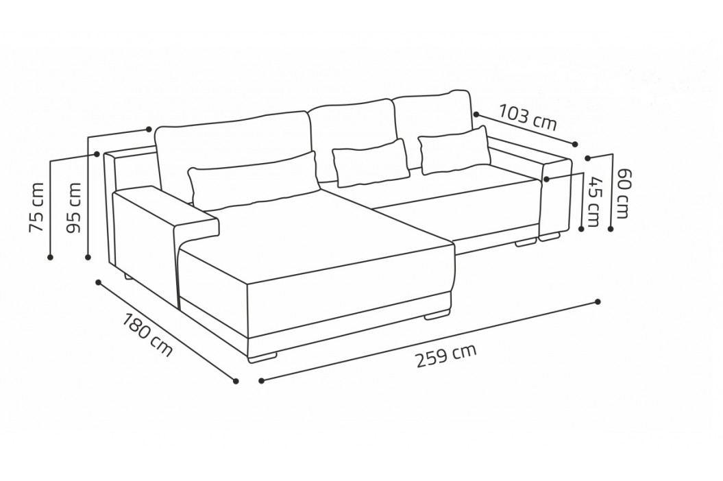 Univerzální sedací souprava s úložným prostorem v béžové barvě F1370
