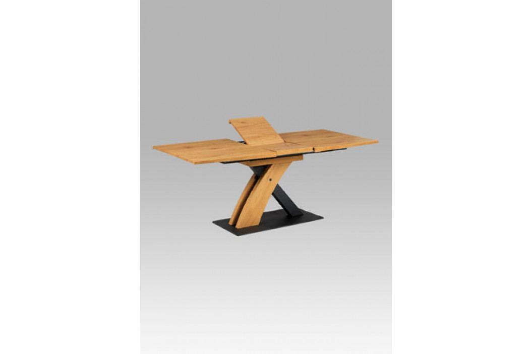 Rozkládací jídelní stůl 160+40x90 cm z kvalitní MDF v dekoru divoký dub HT-701 OAK