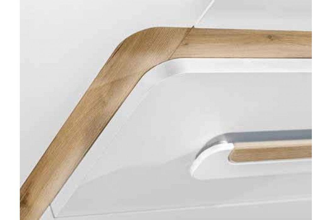 Pracovní stůl 120x50 cm v dekoru dub jasný kombinaci s bílou matnou barvou KN1046