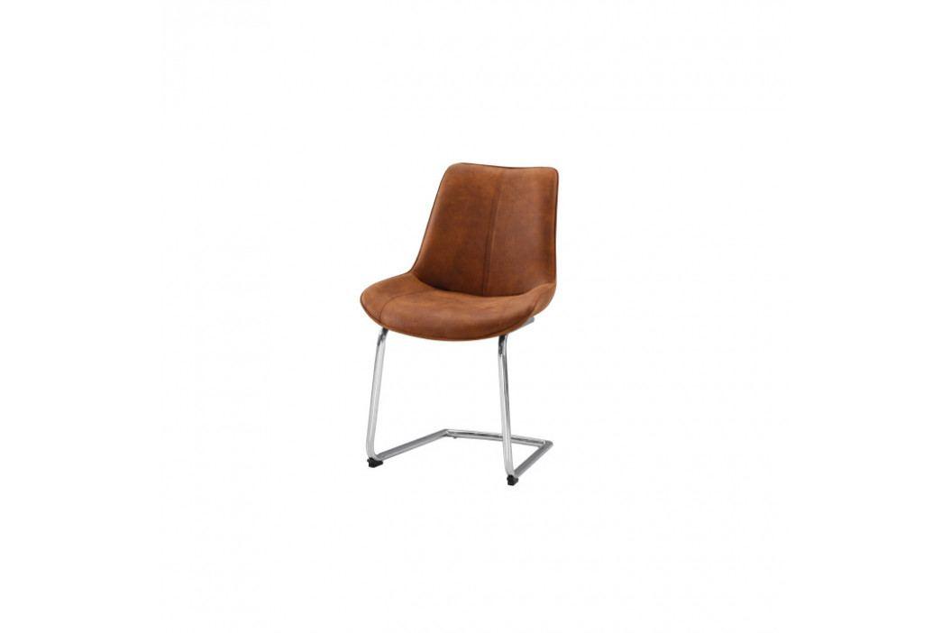 Židle, hnědá látka / chrom, NADINA obrázek inspirace