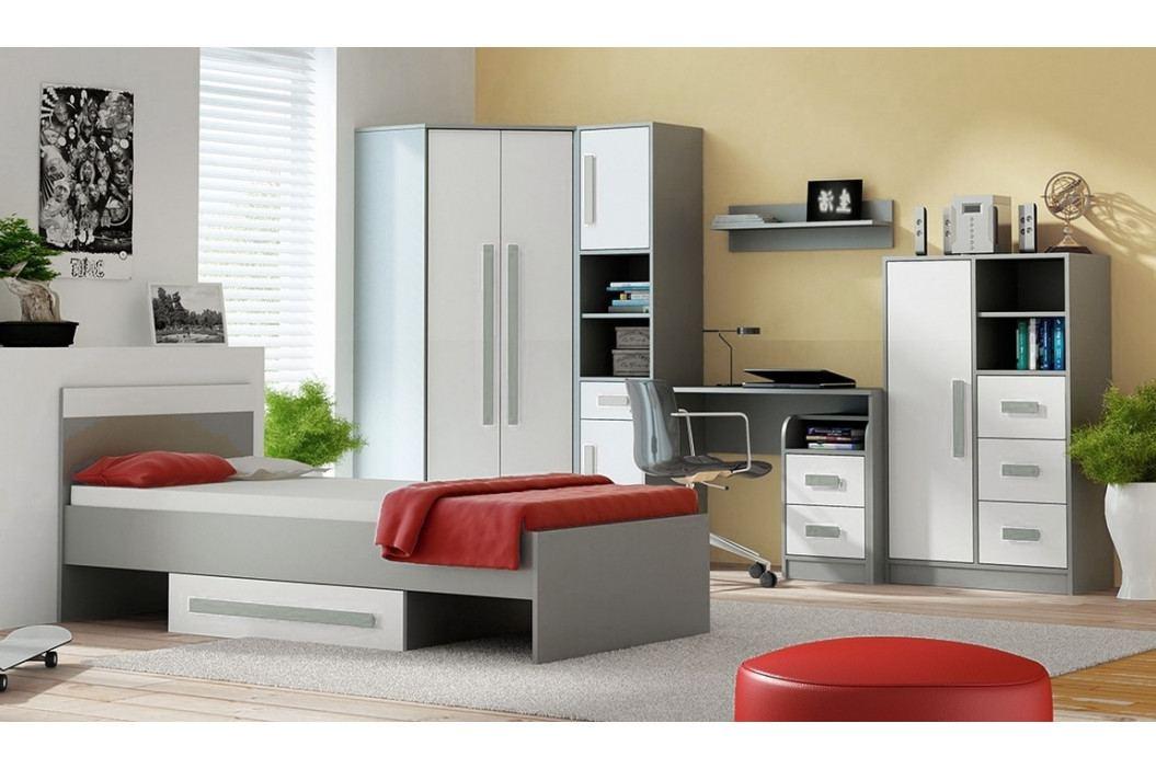 Pracovní stůl 110x50 cm v šedé barvě antracit typ 8 KN1076