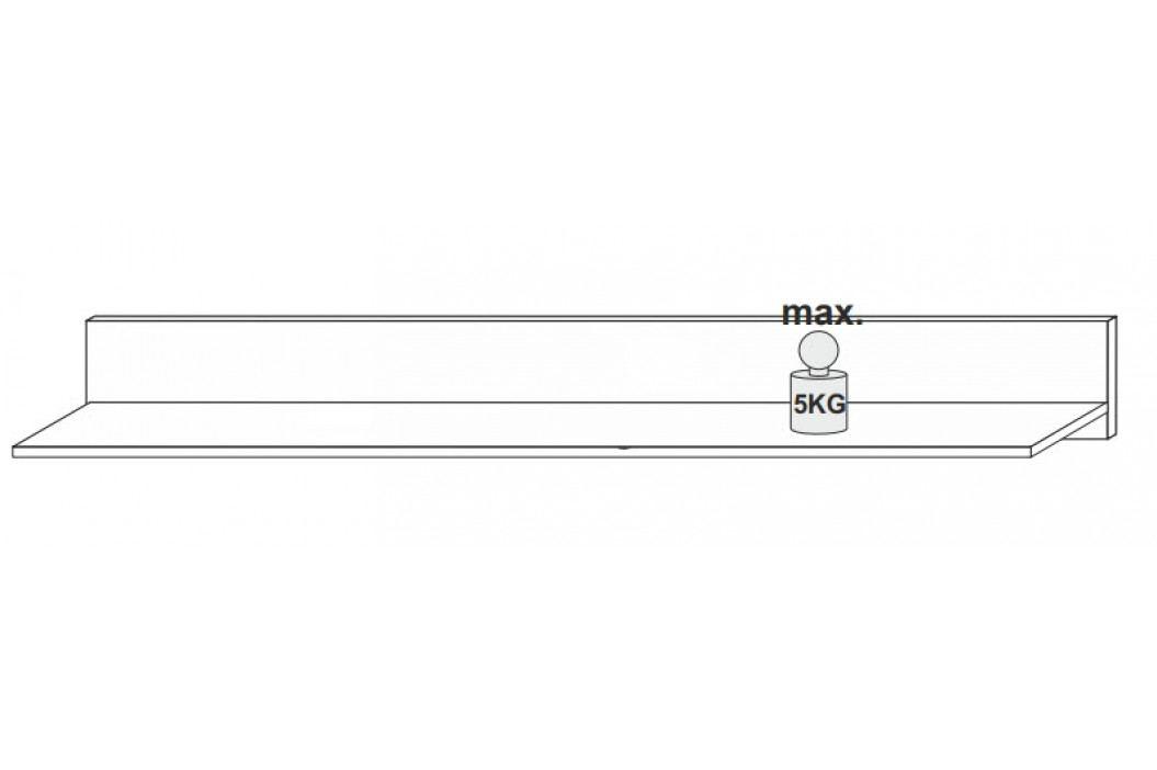 Obývací sestava v provedení bílý lesk s dekorem dub craft KN087