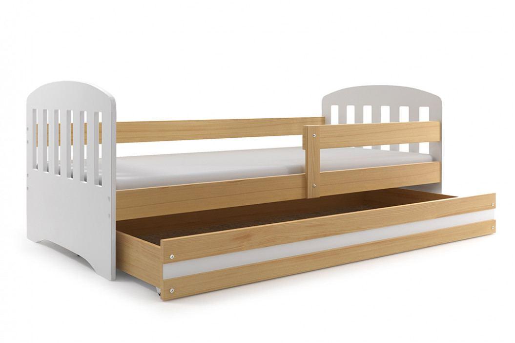Dětské postel v bílé barvě s úložným prostorem 80x160 cm F1414