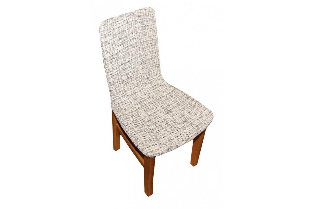 Forbyt, Potah elastický na židle, Andrea bíločerná komplet 2 ks obrázek inspirace