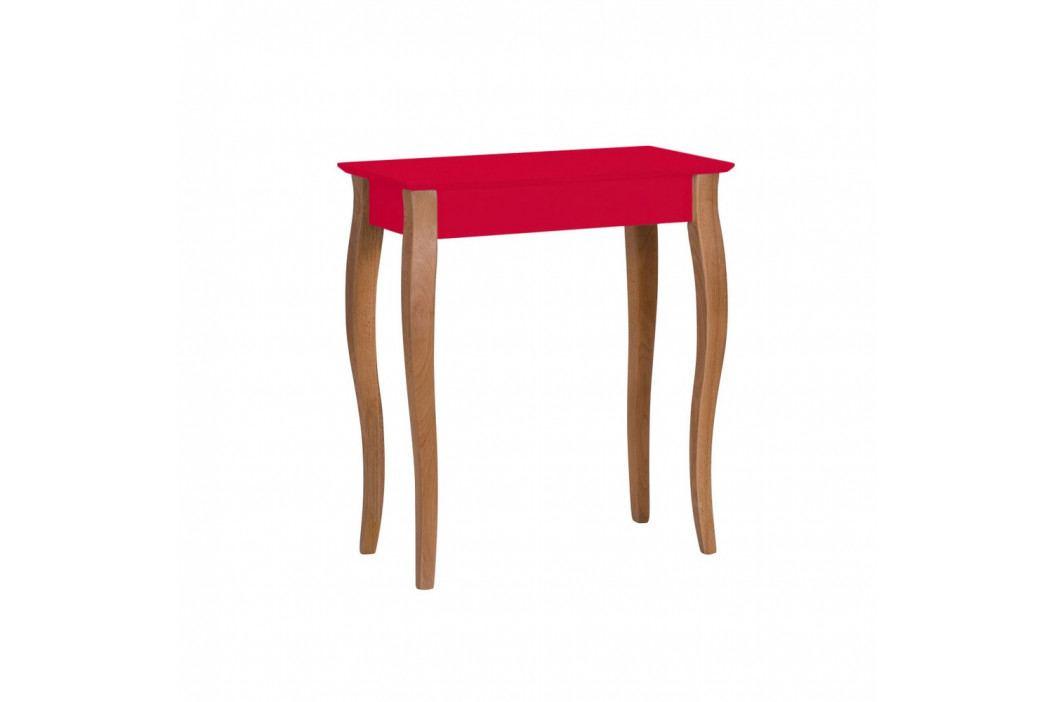 Červený konzolový stolek Ragaba Lillo, šířka65cm