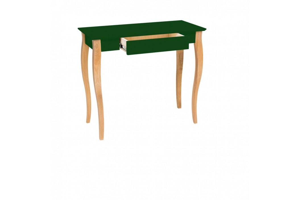 Tmavě zelený psací stůl Ragaba Lillo, šířka85cm