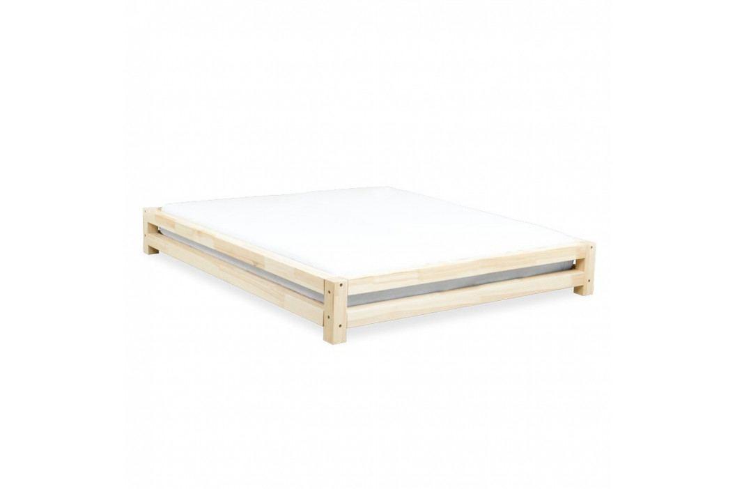 Dvoulůžková postel zlakovaného smrkového dřeva Benlemi JAPA, 200x200cm