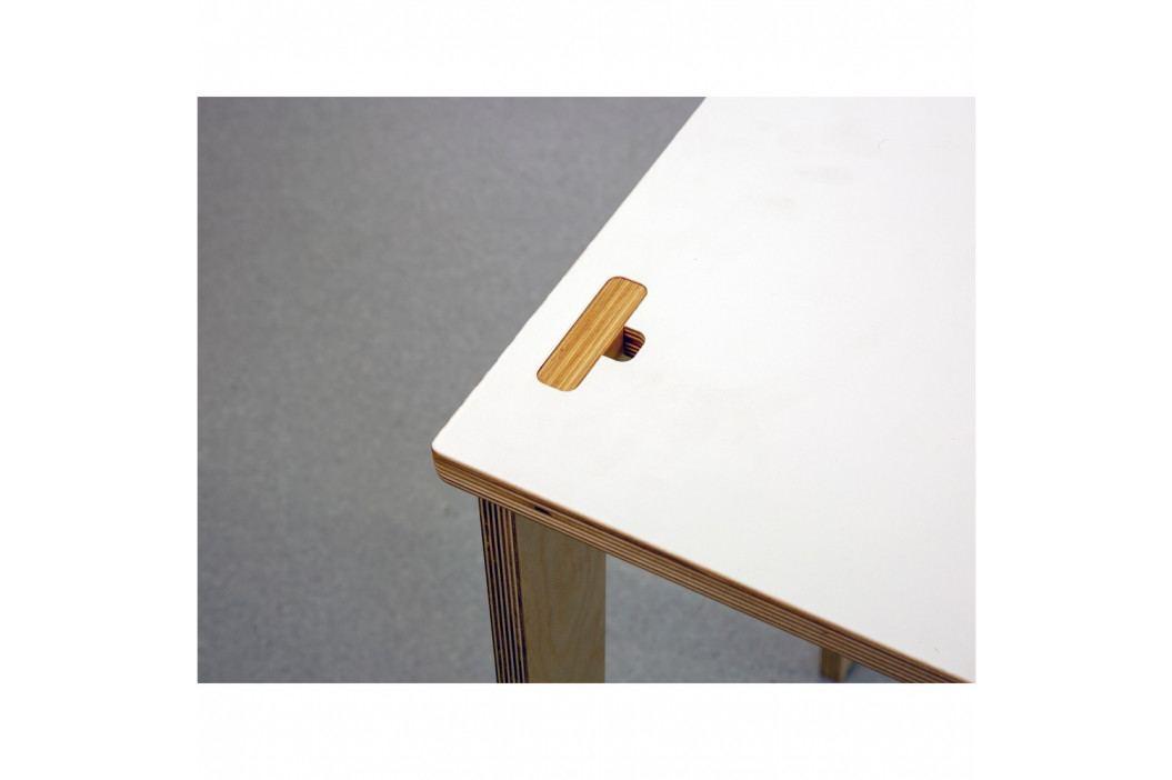 Psací stůl s bílou deskou a zásuvkou We47 Sandra
