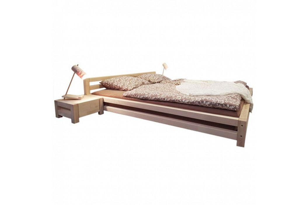 Bílá dvoulůžková postel z smrkového dřeva Benlemi Double,160x200cm