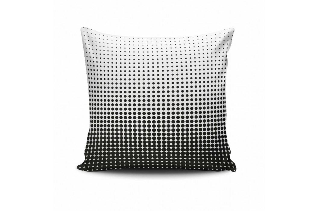 Černo-bílý povlak na polštář Calento Tarreno, 45 x 45 cm