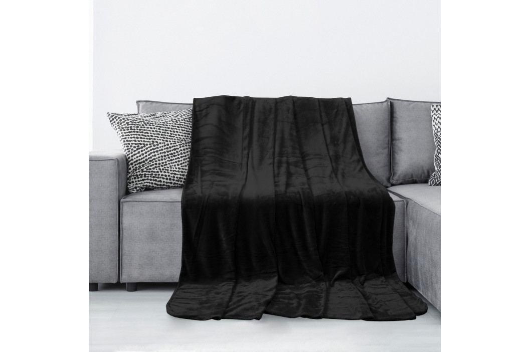 Černá deka z mikrovlákna AmeliaHome Tyler, 170 x 200 cm