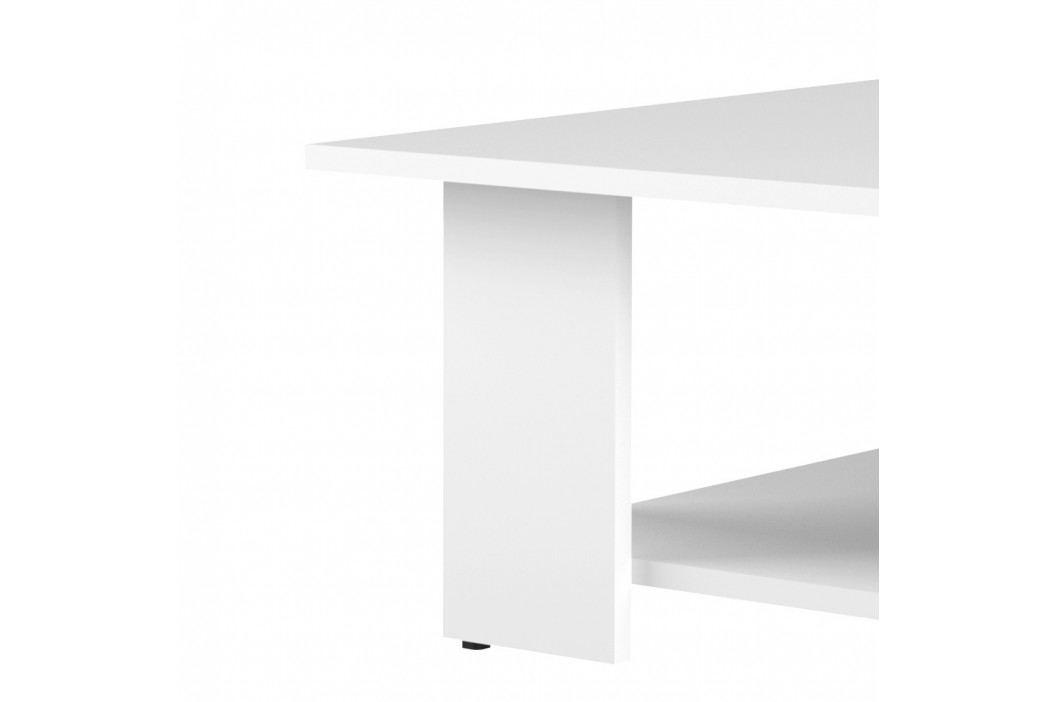 Bílý konferenční stolek Symbiosis Square, 89x89cm