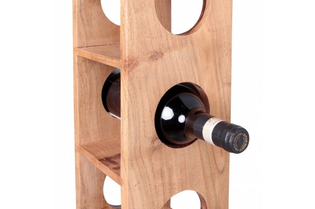 Stojan z masivního akáciového dřeva na vinné lahve Skyport Brisa