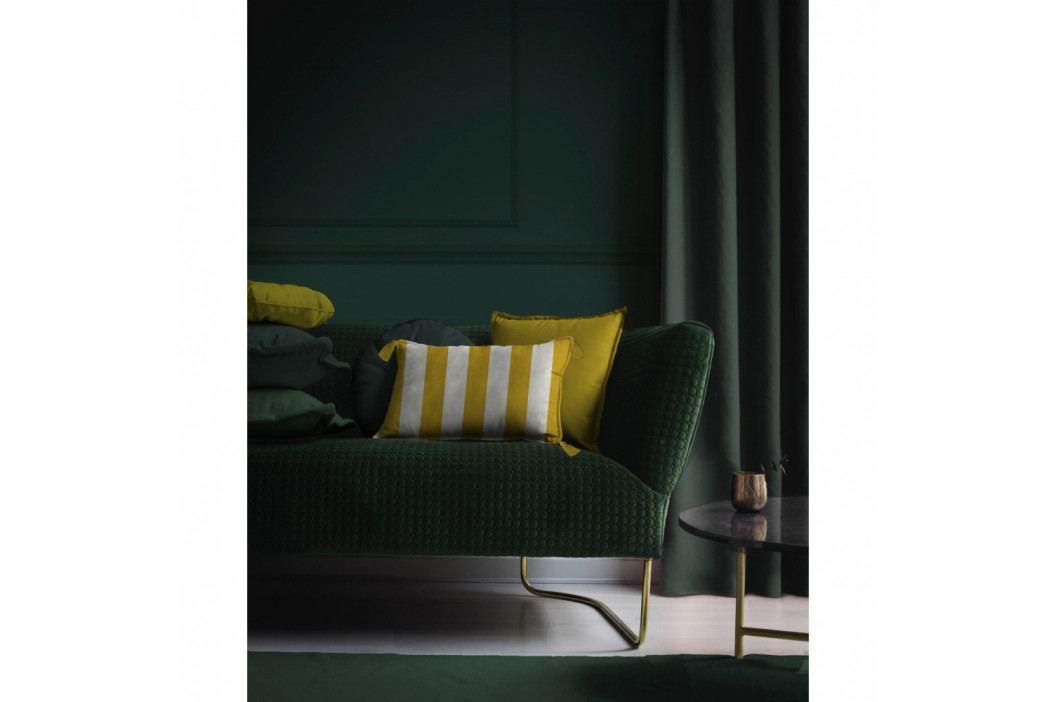 Žluto-bílý dekorativní povlak na polštář Velvet Atelier Strips, 50 x 35 cm