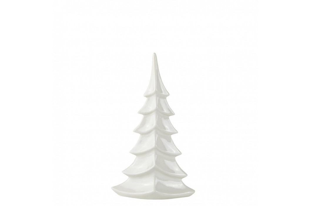Bílý keramický dekorativní vánoční stromek KJ Collection Tree, výška 27,5 cm