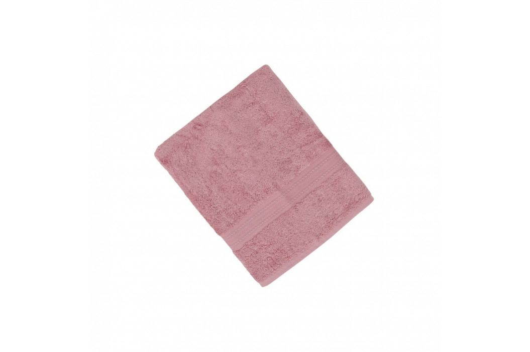 Tmavě růžová osuška z bavlny a bambusového vlákna Lavinya, 70x140cm