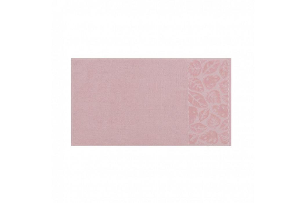 Sada 2 pudrově růžových ručníků z bavlněného saténu Madame Coco Velver, 50 x 90 m