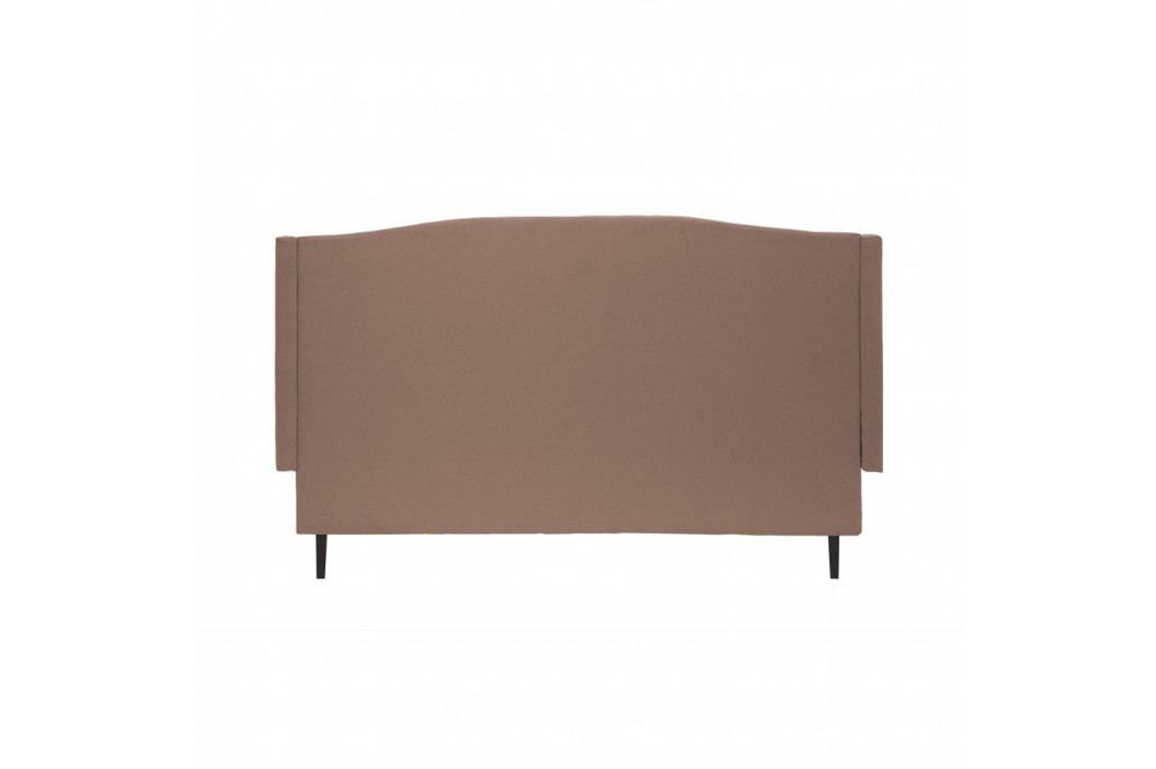 Hnědá postel s černými nohami Vivonita Windsor,140x200cm