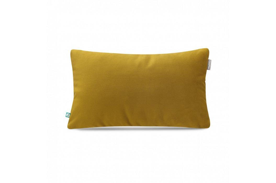Hořčicově žlutý povlak na polštář Mumla Velour, 30 x 50 cm