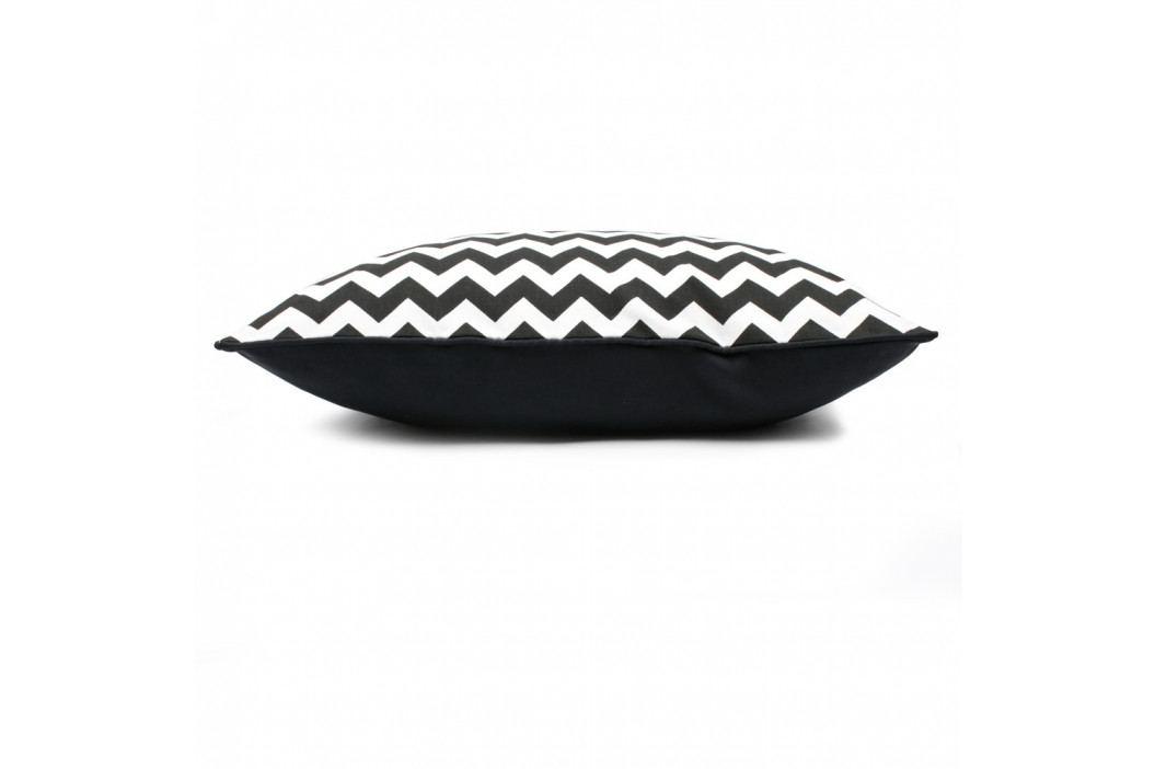 Černo-bílý povlak na polštář WeLoveBeds Zig Zag, 40 x 60 cm