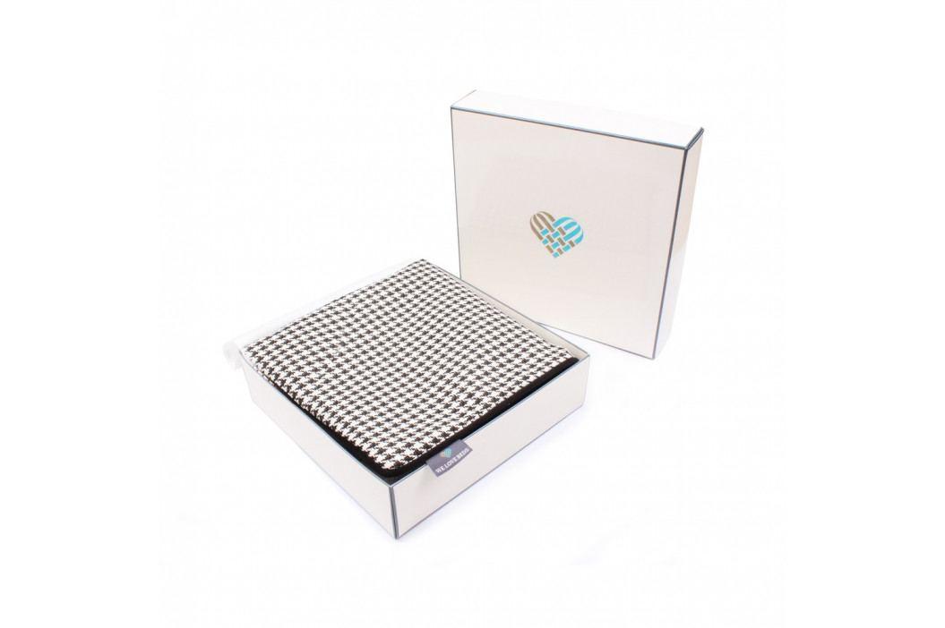 Černo-bílý povlak na polštář WeLoveBeds Check, 45 x 45 cm