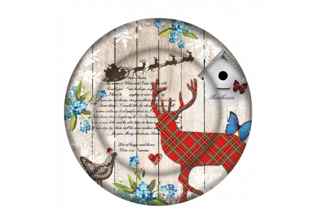 Skleněný talíř s vánočním motivem PPD Xmas Plate Duro, ⌀ 32 cm