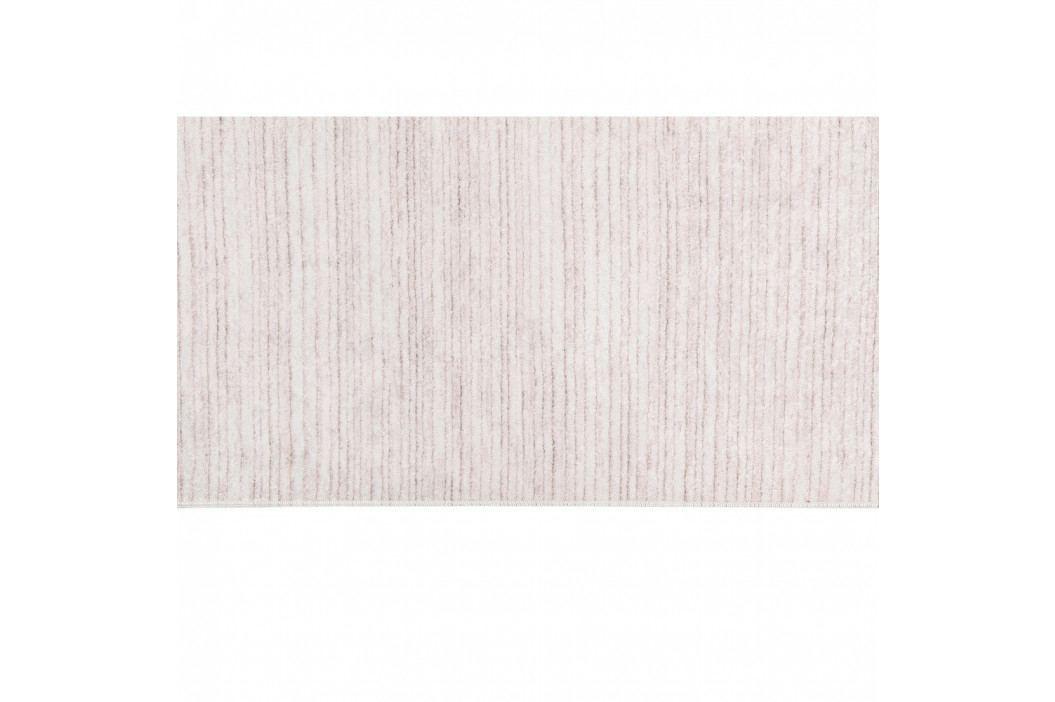 Sametový koberec Deri Dijital Kaluna Powder, 80x150cm