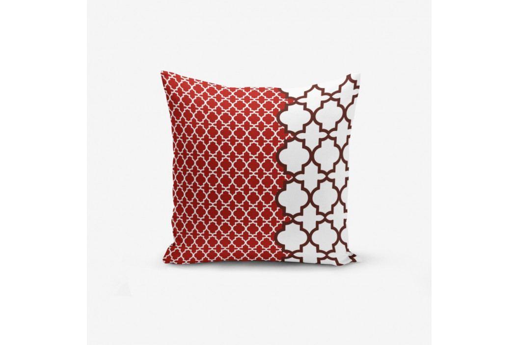 Povlak na polštář s příměsí bavlny Minimalist Cushion Covers Geometric Rojo, 45 x 45 cm