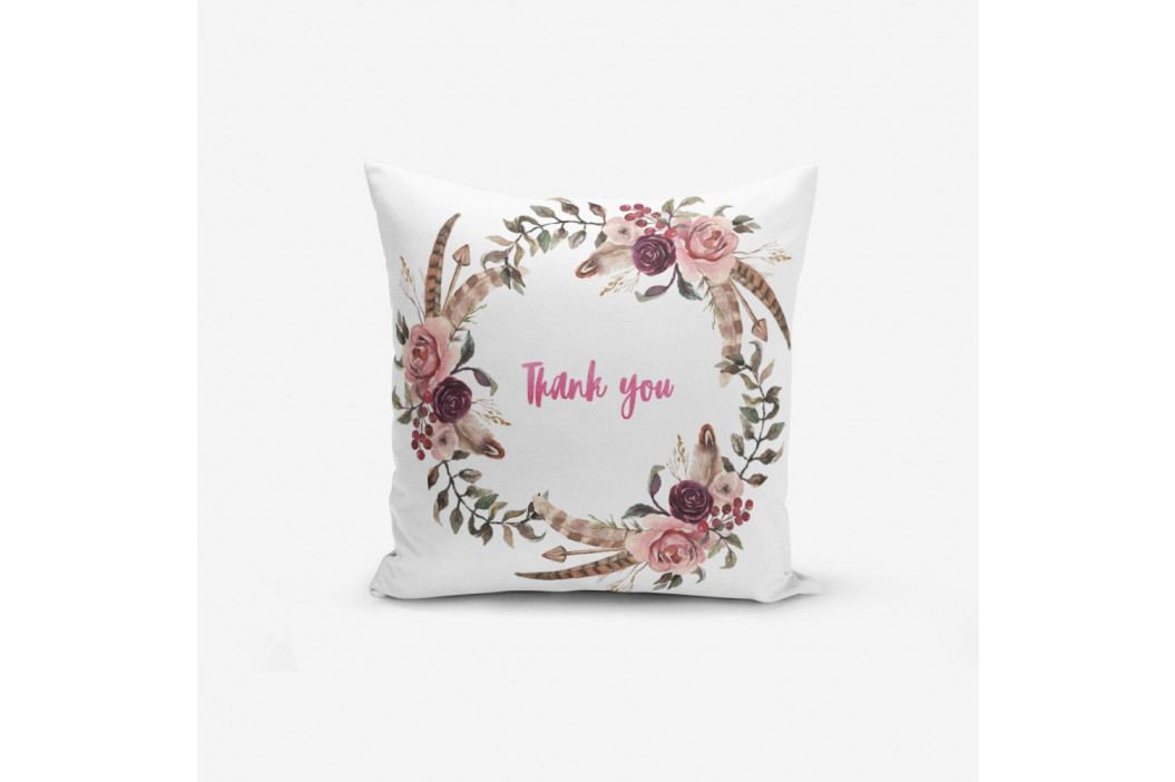 Povlak na polštář s příměsí bavlny Minimalist Cushion Covers Thank You, 45 x 45 cm