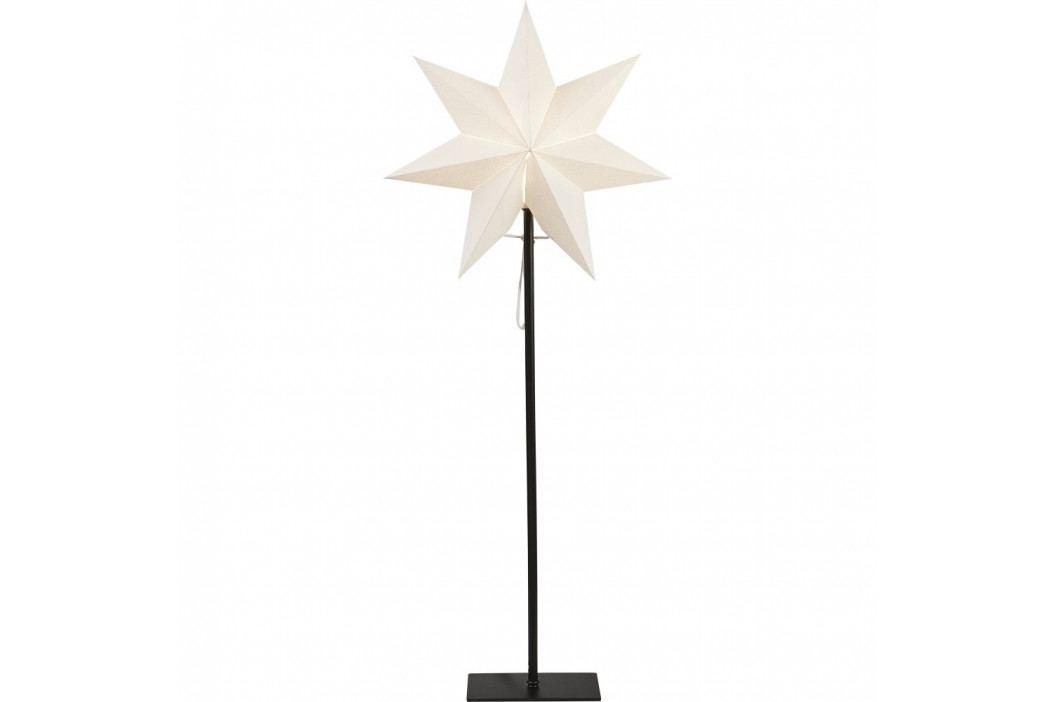 Bílá svítící hvězda na stojanu Best Season Frozen, výška85cm