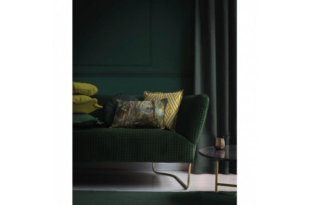 Žlutý dekorativní povlak na polštář Velvet Atelier Lines, 45 x 45 cm