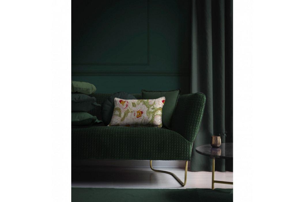 Tmavě zelený dekorativní polštář Velvet Atelier, 45 x 45 cm